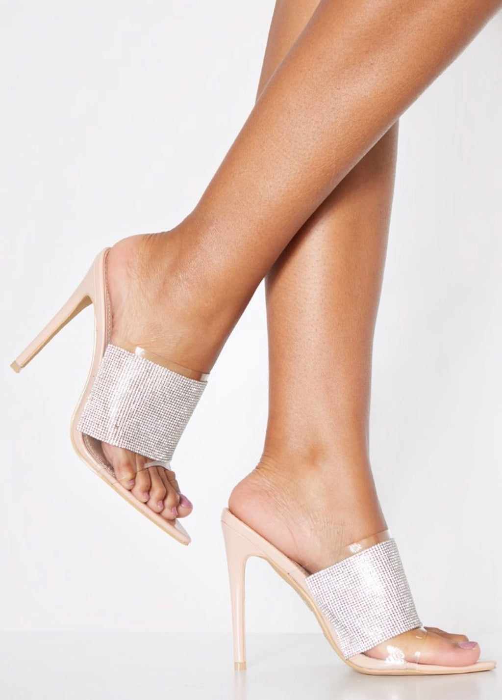 SPIRER DIAMENTÉ POINT TOE MULE