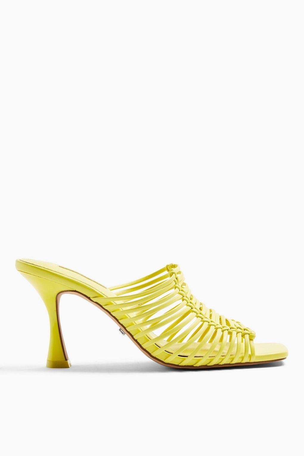 TOPSHOP NOON YELLOW MACRAME MULES