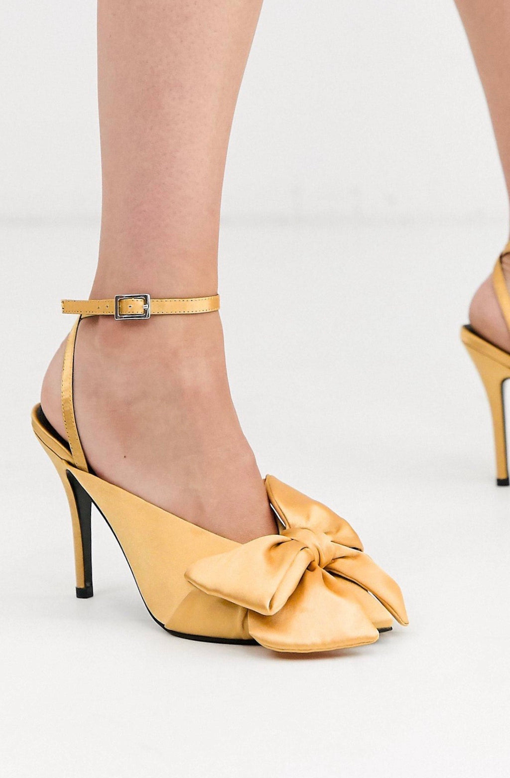 POETRY POINTED HIGH HEEL MULES WITH BOW