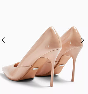 TOPSHOP NATURAL GEORGIA POINTED COURT SHOES
