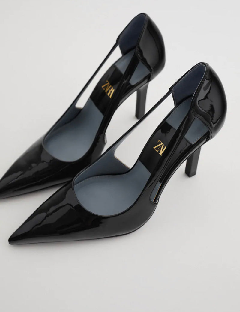 ZARA CUT-OUT HIGH HEEL SHOES