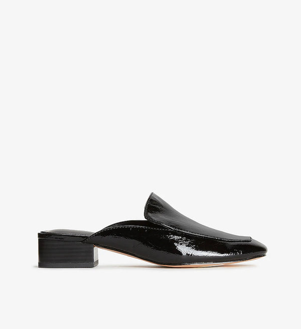 EXPRESS BLACK PATENT MULES