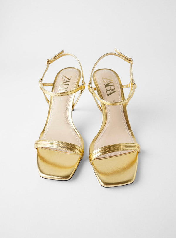 ZARA HIGH-HEEL SANDALS WITH THIN STRAPS