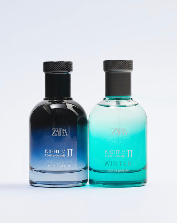 ZARA NIGHT POUR HOMME I I+ NIGHT POUR HOMME II WINTER 80 ML X 2