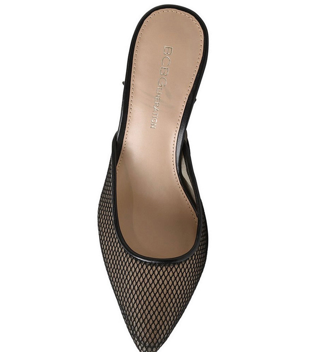 BCBGENERATION MESH POINTED TOE LACE-UP SHOES