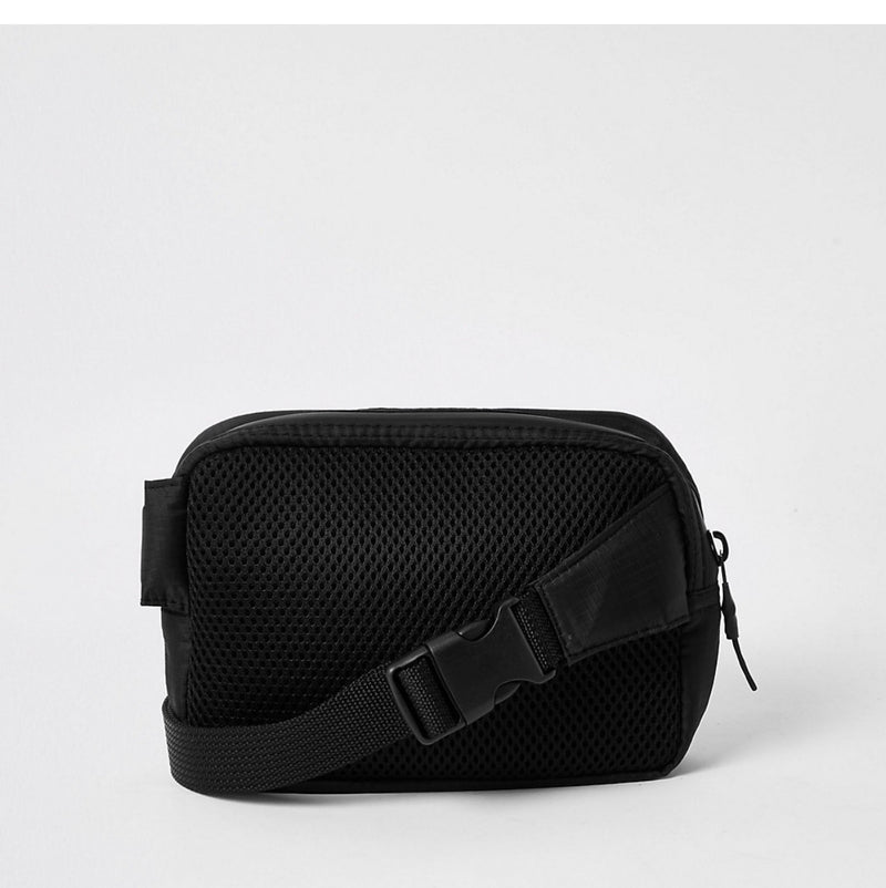 RIVER ISLAND CONCEPT BACK MESH CROSSBODY BUCKLE BAG