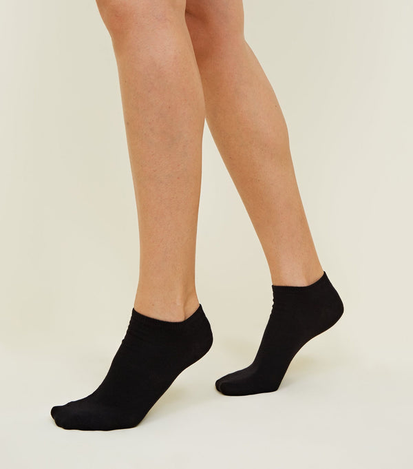 NEW LOOK 5 PACK BLACK ANKLE SOCKS