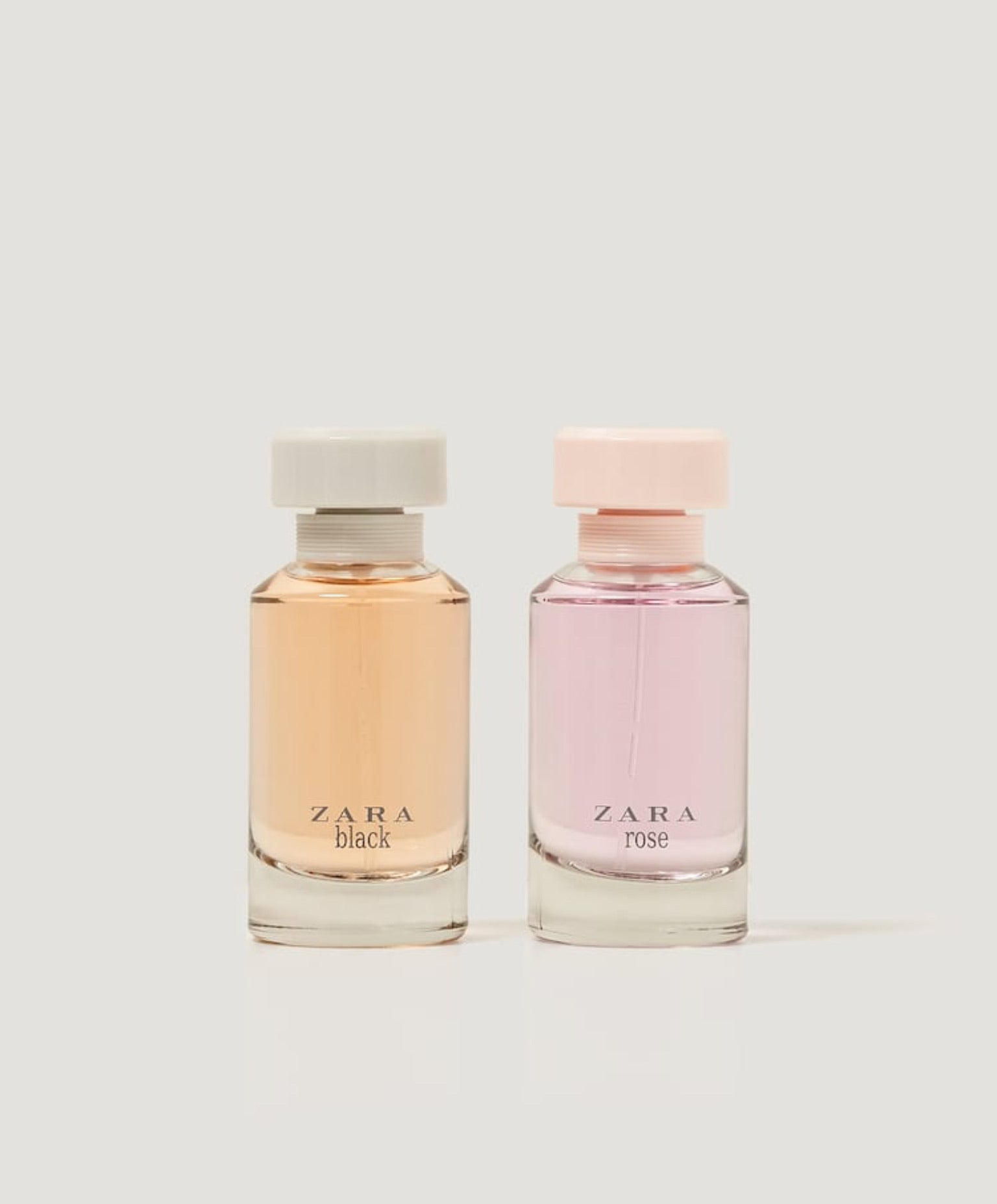 ZARA BLACK + ROSE TINTED LEATHER PERFUME 100ML X 2
