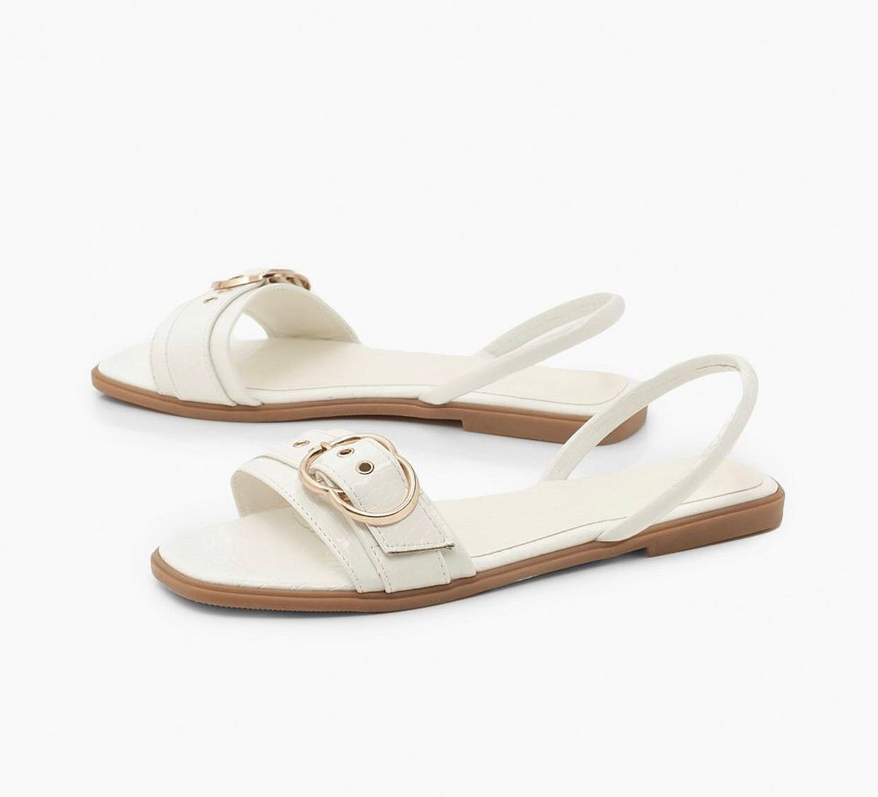 KRUSH WHITE TRIM SLINGBACK SANDALS