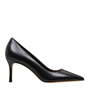 NINE WEST POINTED TOE LEATHER PUMP