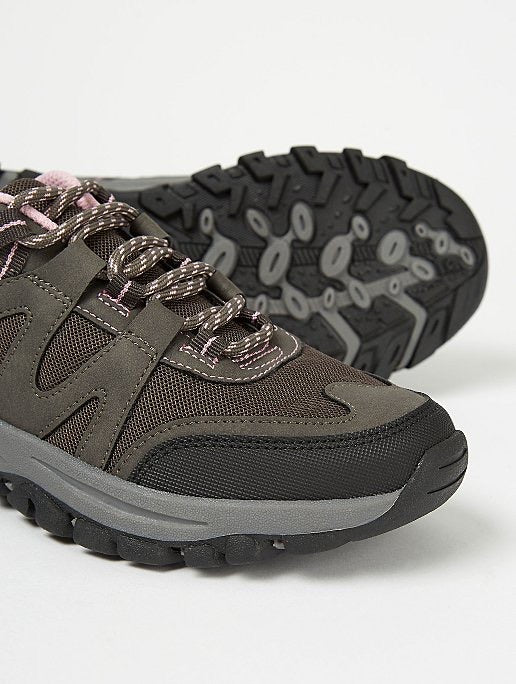 GEORGE GREY PANELLED HIKER TRAINERS