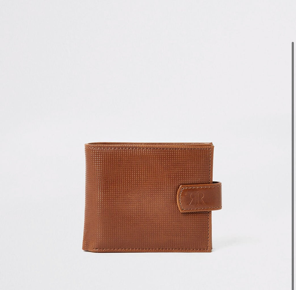 RIVER ISLAND TAN TEXTURED WALLET