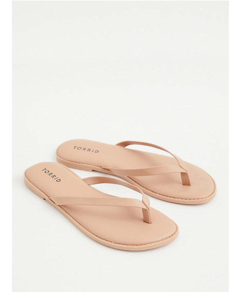 TORRID BLACK LEATHER FLIP FLOPS