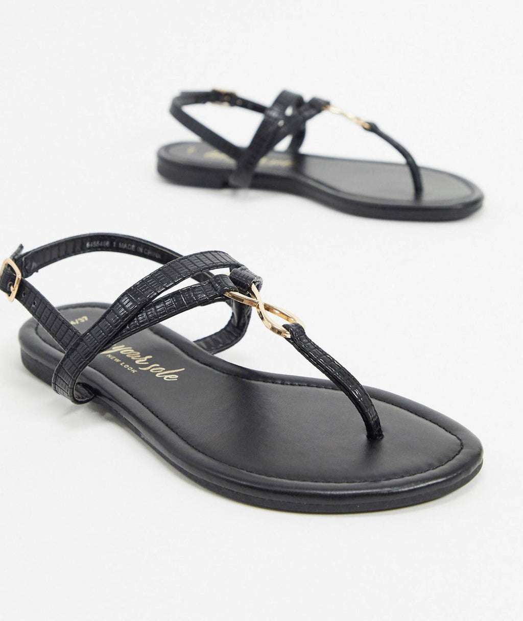 NEW LOOK FLAT TOE POST SANDAL