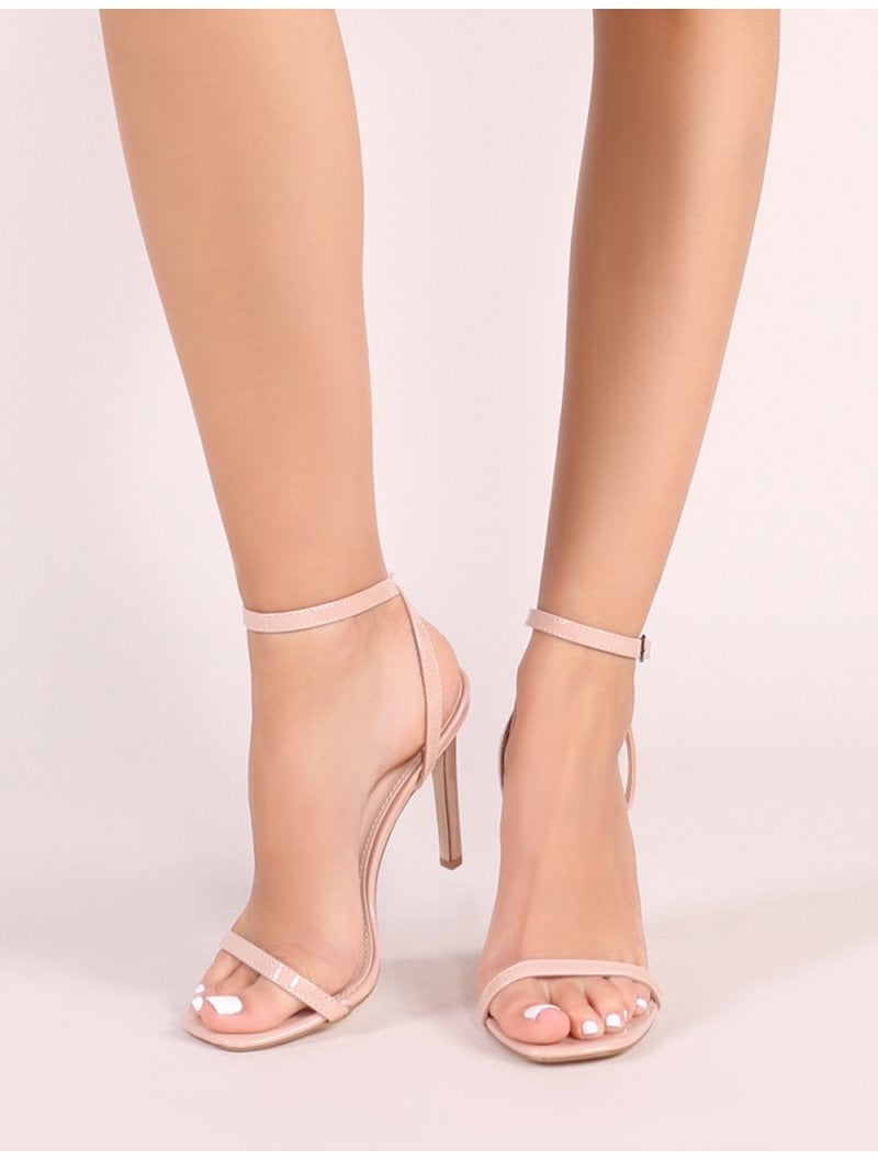 PUBLIC DESIRE TOE BARELY THERE HEELS