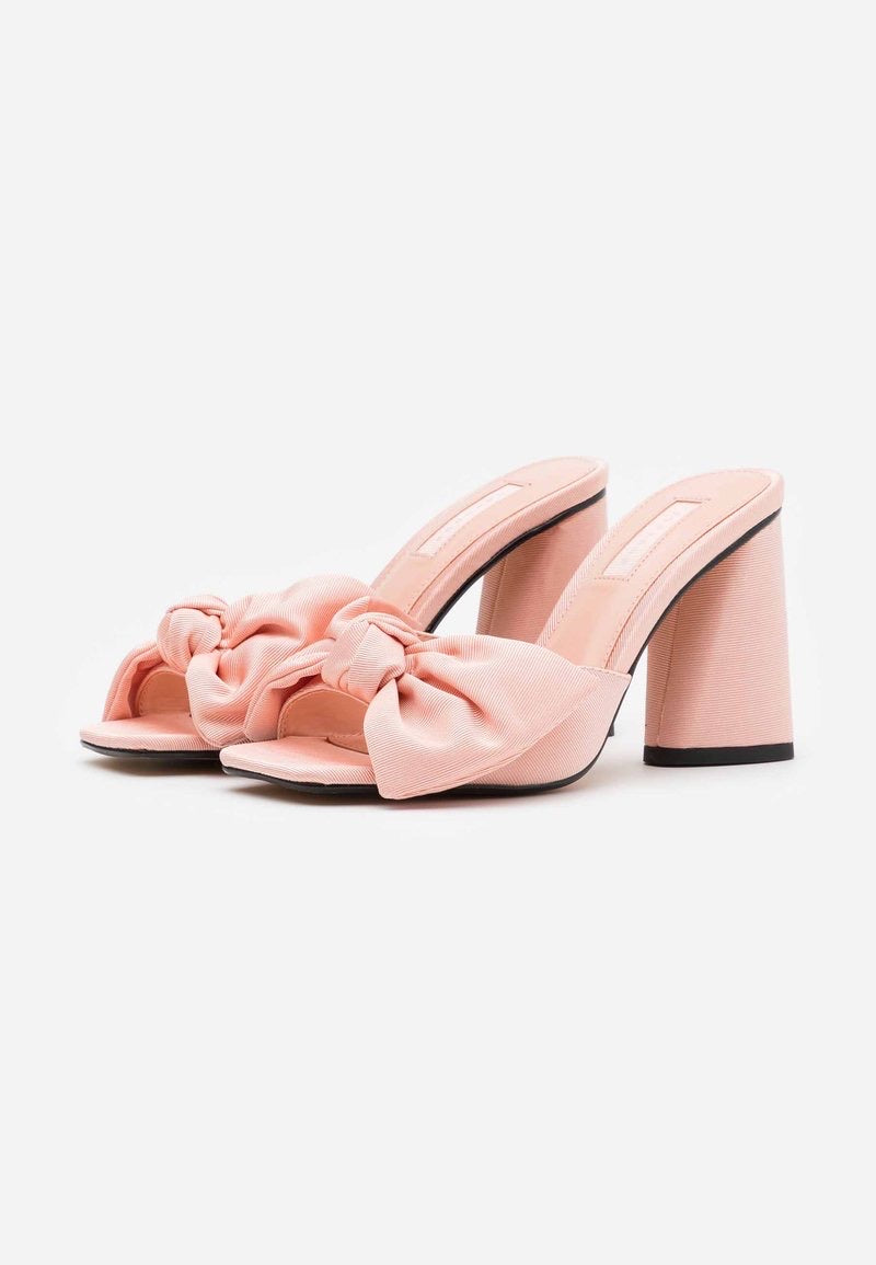 TOPSHOP SAUCY PINK BOW MULES