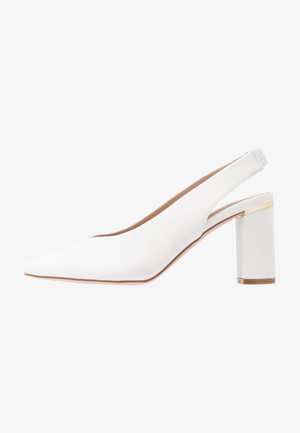 DOROTHY PERKINS WHITE EMILY SLINGBACK COURT SHOES