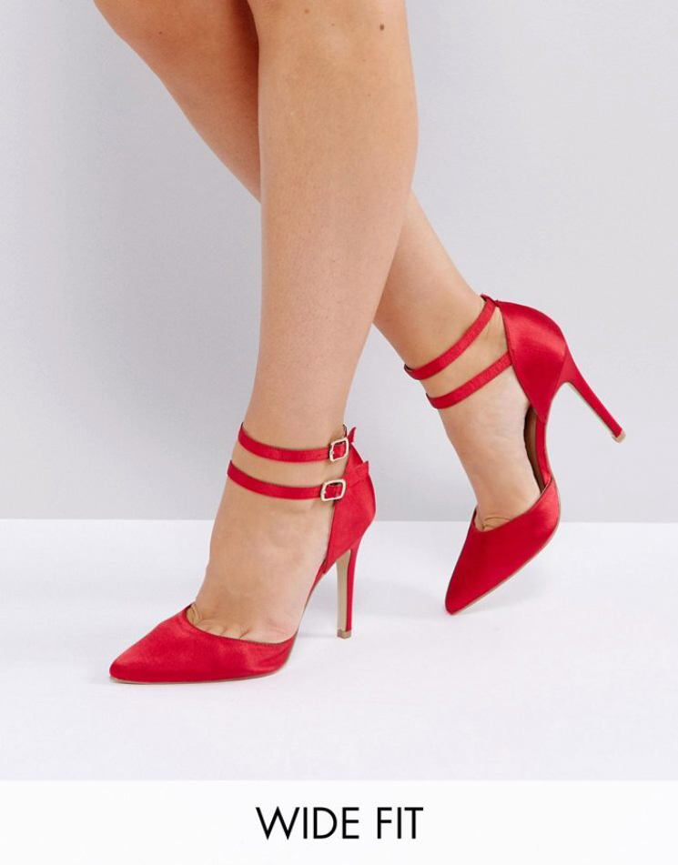 NEW LOOK SATIN ANKLE STRAP PUMPS