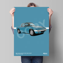 Load image into Gallery viewer, Illustration 1967 Lotus Elan French Blue L02