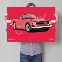 Load image into Gallery viewer, Illustration 1973 Triumph TR6 Pimento Red 72