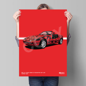 Print of 1991 A.R. Penck BMW Z1 Roadster Art Car in Toprot 257