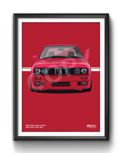 Load image into Gallery viewer, Print of 1990 BMW E30 325i Sport in Brilliant Red 308