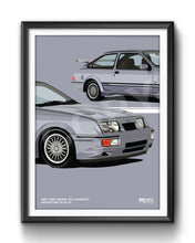 Load image into Gallery viewer, Illustration 1987 Ford Sierra RS Cosworth Moonstone Blue K6