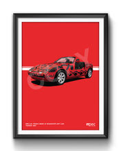 Load image into Gallery viewer, Print of 1991 A.R. Penck BMW Z1 Roadster Art Car in Toprot 257