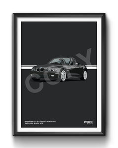 Print of 2002 BMW Z3 2.2 Roadster in Sapphire Black 475