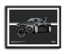 Load image into Gallery viewer, Landscape Print of 1999 BMW Z3 2.0 Roadster in Sapphire Black 475