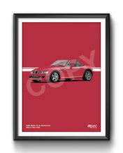 Load image into Gallery viewer, Illustration 1998 BMW Z3 M Roadster Imola Red 405