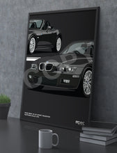 Load image into Gallery viewer, Print of 2002 BMW Z3 2.2 Roadster in Sapphire Black 475 - Close Ups