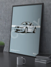 Load image into Gallery viewer, Print of 2000 BMW Z3 2.8 Roadster in Arctic Silver 309