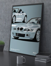 Load image into Gallery viewer, Print of 2000 BMW Z3 2.8 Roadster in Arctic Silver 309 - Close Ups