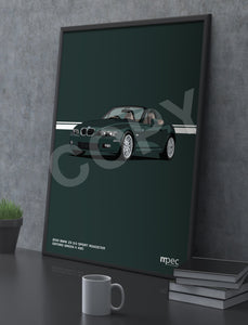 Print of 2001 BMW Z3 3.0 Sport Roadster in Oxford Green II 430