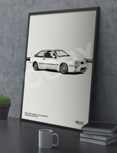 Load image into Gallery viewer, Print of 1987 Ford Sierra RS Cosworth in Diamond White B3