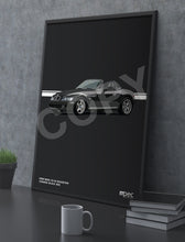 Load image into Gallery viewer, Print of 1998 BMW Z3 M Roadster in Cosmos Black 303