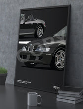 Load image into Gallery viewer, Print of 1998 BMW Z3 M Roadster in Cosmos Black 303 - Close Ups