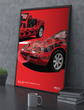 Load image into Gallery viewer, Print of 1991 A.R. Penck BMW Z1 Roadster Art Car in Toprot 257 - Close Up