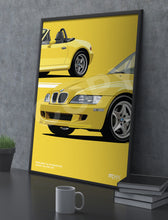 Load image into Gallery viewer, Illustration 1998 BMW Z3 M Roadster Dakar Yellow 337