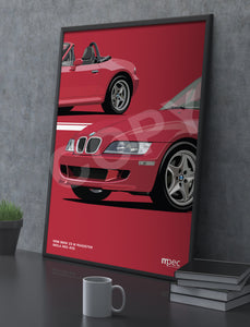 Print of 1998 BMW Z3 M Roadster in Imola Red 405 - Close Ups