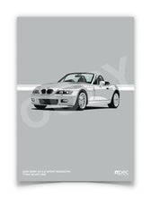 Load image into Gallery viewer, Print of 2001 BMW Z3 2.2 Roadster in Titan Silver 354