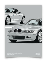 Load image into Gallery viewer, Print of 2001 BMW Z3 2.2 Roadster in Titan Silver 354 - Close Ups