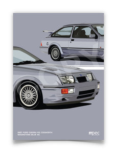 Illustration 1987 Ford Sierra RS Cosworth Moonstone Blue K6