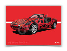 Load image into Gallery viewer, Landscape Print of 1991 A.R. Penck BMW Z1 Roadster Art Car in Toprot 257