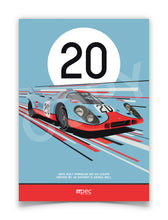 Load image into Gallery viewer, Illustration 1970 Gulf Porsche 917 KH Coupé
