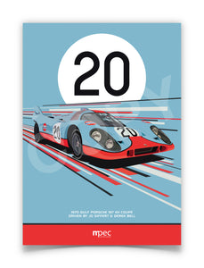 Illustration 1970 Gulf Porsche 917 KH Coupé