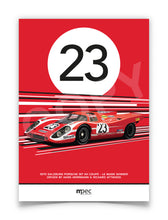 Load image into Gallery viewer, Print of 1970 Salzburg Porsche 917 KH Coupé