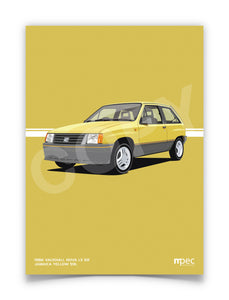 Illustration 1986 Vauxhall Nova 1.3 SR Jamaica Yellow 59L