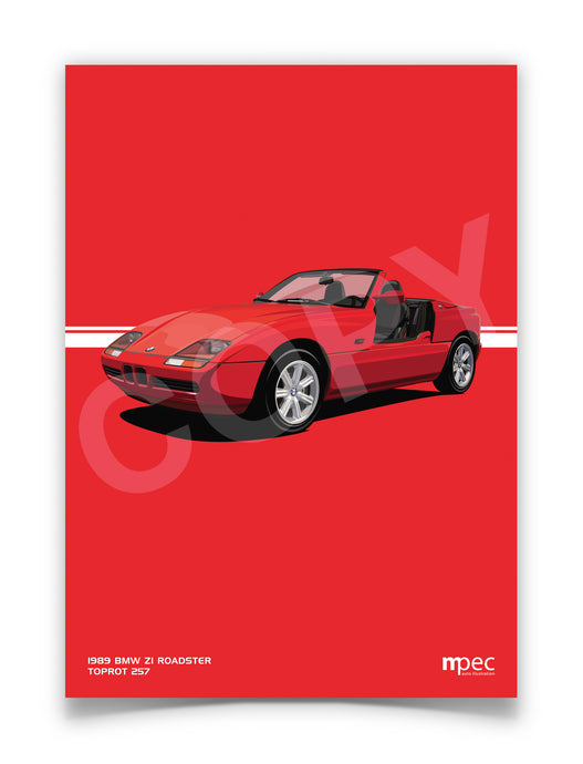 Illustration 1989 BMW Z1 Roadster Toprot 257